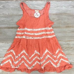 Tea & Cup Lace and Polka Dot Lace Boho dress/tunic
